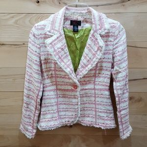 Lined True Meaning Stripped Tweed Blazer